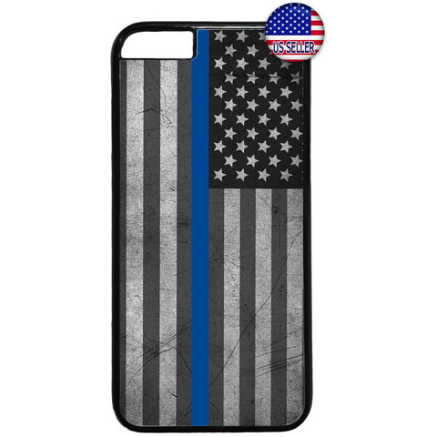 Police Force Distressed USA Flag Rubber Case Cover For Iphone