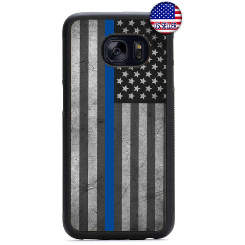 Police Force Distressed USA Flag Rubber Case Cover For Samsung Galaxy Note