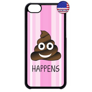 Emoji S**t Happens Rubber Case Cover For Ipod Touch