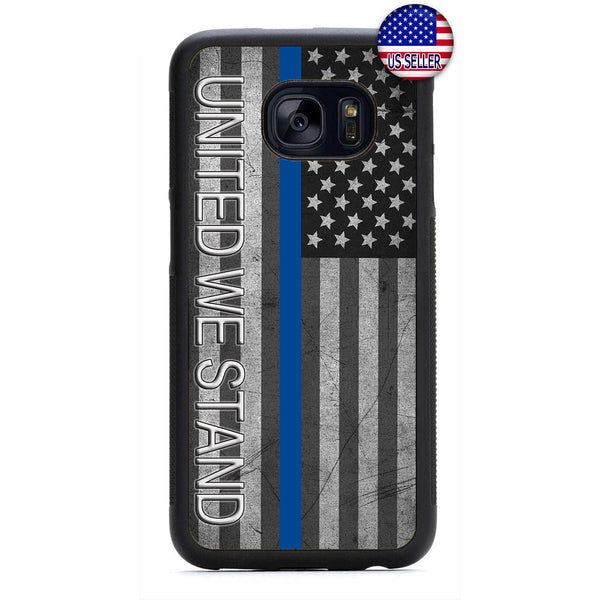 Police Force United We Stand Rubber Case Cover For Samsung Galaxy