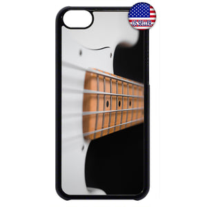 Pearl White Bass Guitar Rubber Case Cover For Ipod Touch