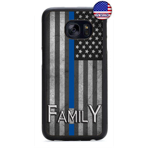 Police Force Family USA Flag Rubber Case Cover For Samsung Galaxy