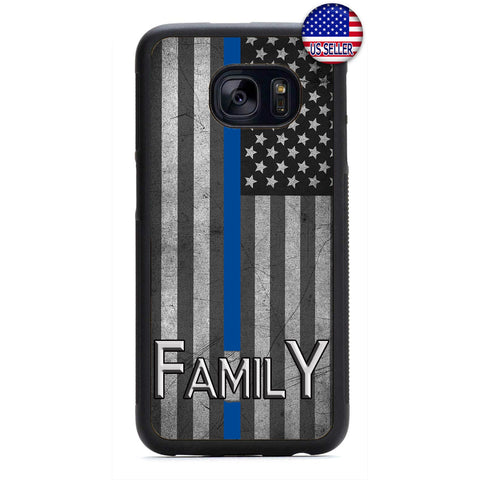 Police Force Family USA Flag Rubber Case Cover For Samsung Galaxy Note