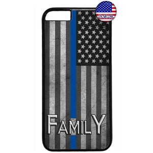 Police Force Family USA Flag Rubber Case Cover For Iphone