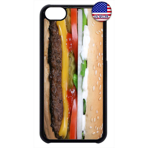 Funny Cheeseburger Food Rubber Case Cover For Ipod Touch