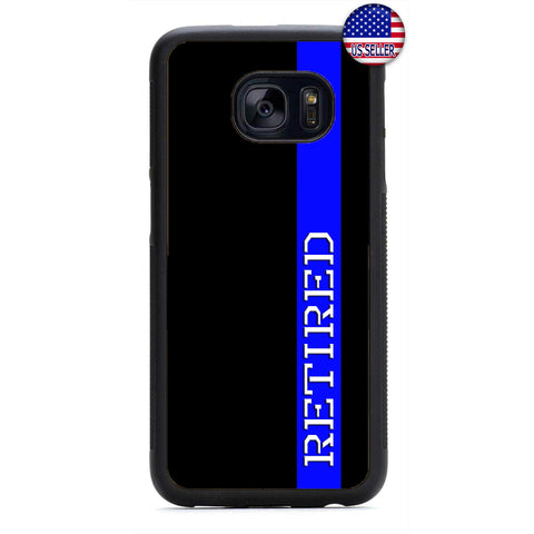 Police Force Retired Cop Rubber Case Cover For Samsung Galaxy
