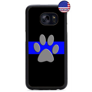 Police Force K-9 Dog Canine Rubber Case Cover For Samsung Galaxy