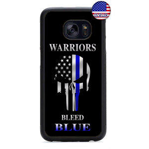 Police Force Bleed Blue Warriors Rubber Case Cover For Samsung Galaxy Note