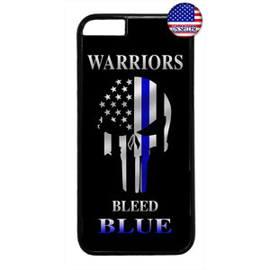 Police Force Bleed Blue Warriors Rubber Case Cover For Iphone