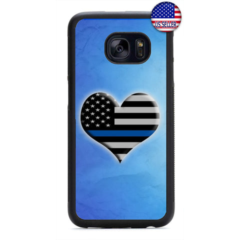 I Love The Police Cops Rubber Case Cover For Samsung Galaxy
