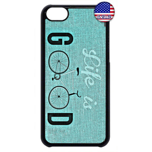 Life Is Good Bicycle Rubber Case Cover For Ipod Touch