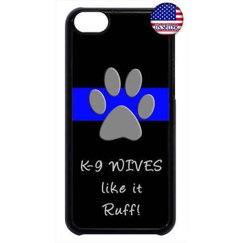 Police K9 Wives Like It Ruff Rubber Case Cover For Ipod Touch
