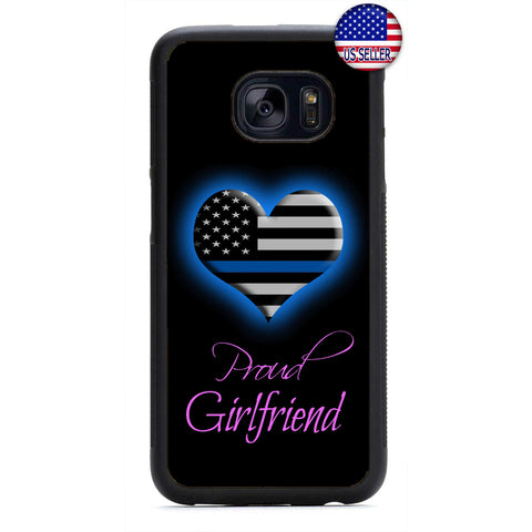 Police Proud Girlfriend Rubber Case Cover For Samsung Galaxy