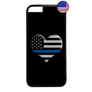Police I Love Cops Blue Rubber Case Cover For Iphone