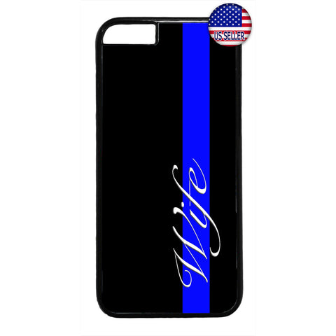 Blue Police Proud Wife Rubber Case Cover For Iphone