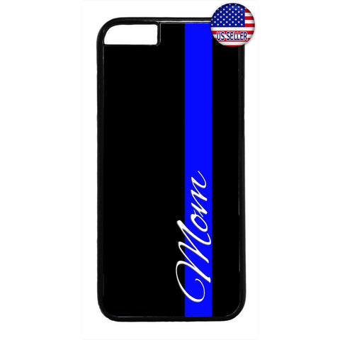 Police Officer Proud Mom Rubber Case Cover For Iphone