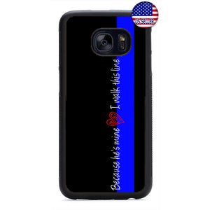 Police Love Wife Girlfriend Rubber Case Cover For Samsung Galaxy Note