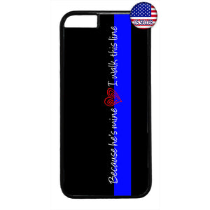 Police Love Wife Girlfriend Rubber Case Cover For Iphone