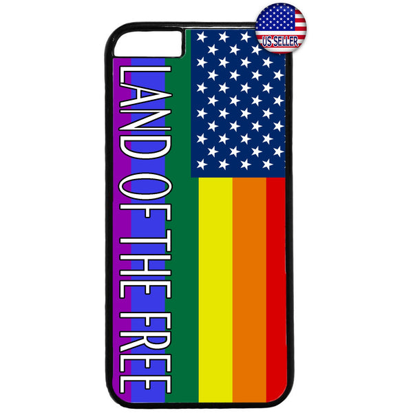 Gay Lesbian LGTB USA Flag Homosexual Rubber Case Cover For Iphone