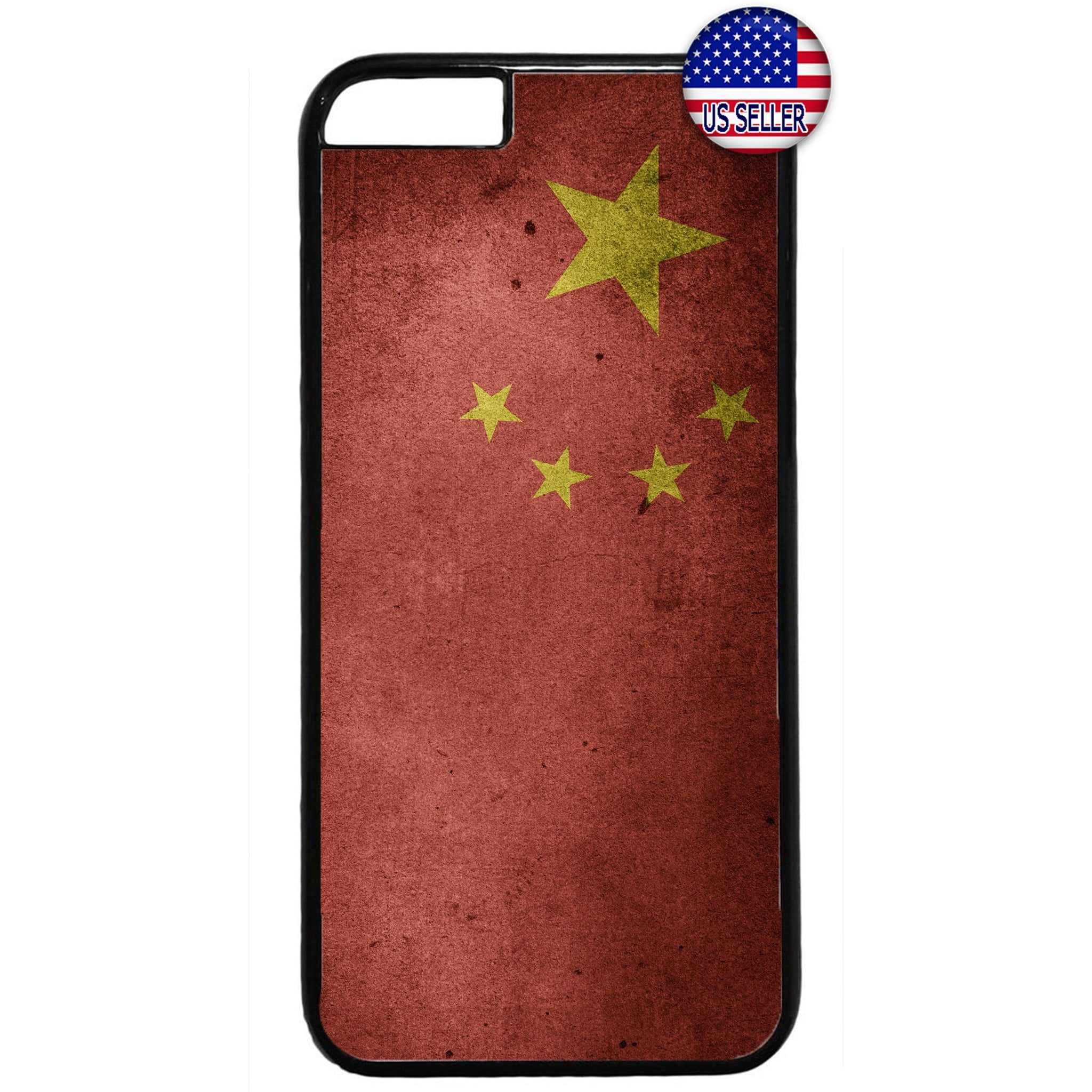 Republic Of China Flag Chinese Pride Rubber Case Cover For Iphone