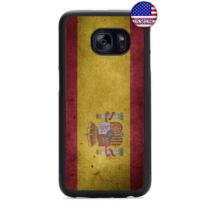 Spain Flag Spanish Pride Rubber Case Cover For Samsung Galaxy