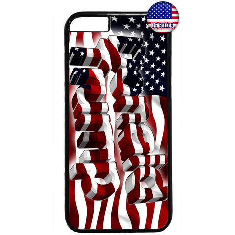 Donald Trump USA Flag Rubber Case Cover For Iphone