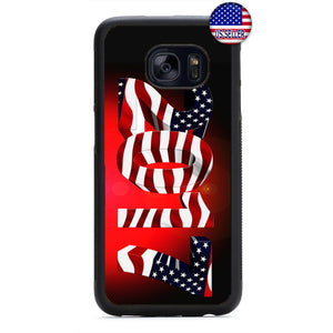 USA Flag 2017 America United States Rubber Case Cover For Samsung Galaxy