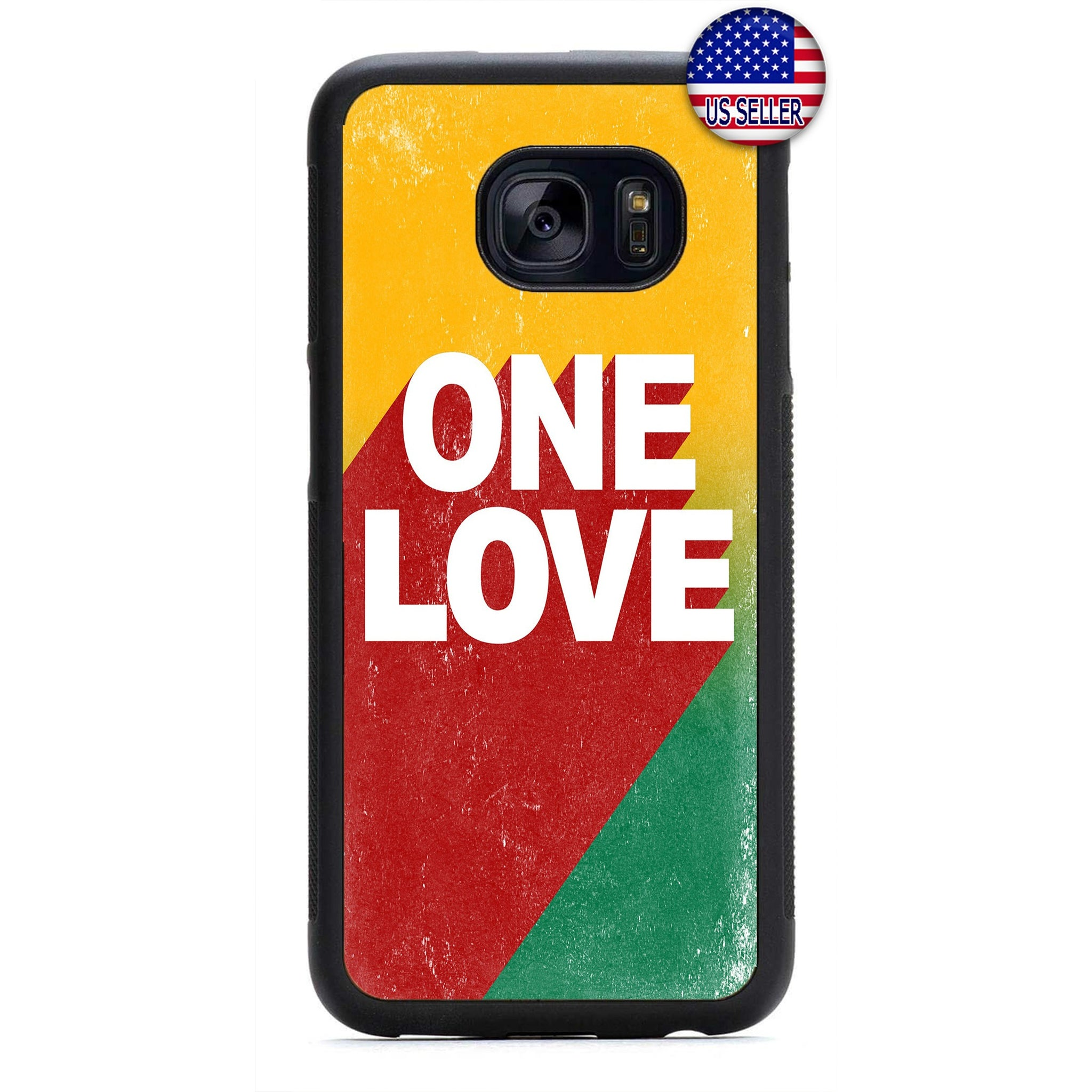 Rasta One Love Marley Jamaica Rubber Case Cover For Samsung Galaxy