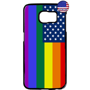 LGBT Gay USA Rainbow Flag Rubber Case Cover For Samsung Galaxy