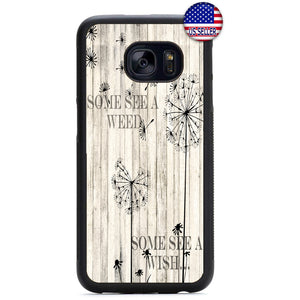 Dandelion Weed Wish Rubber Case Cover For Samsung Galaxy