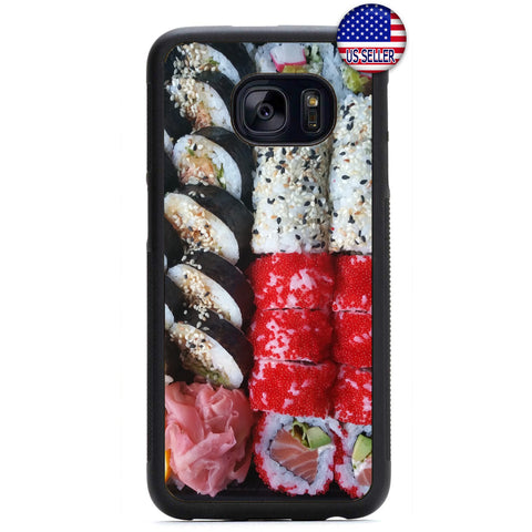 Funny Sushi Roll Japan Rubber Case Cover For Samsung Galaxy