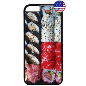 Funny Sushi Roll Japan Rubber Case Cover For Iphone