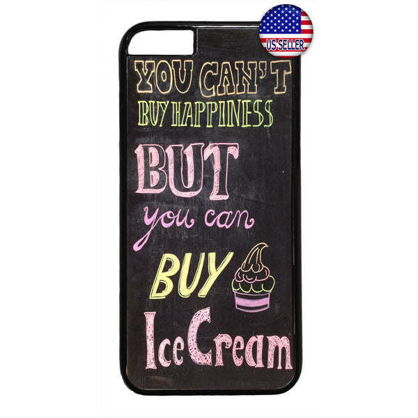 Funny Buy Ice Cream Rubber Case Cover For Iphone