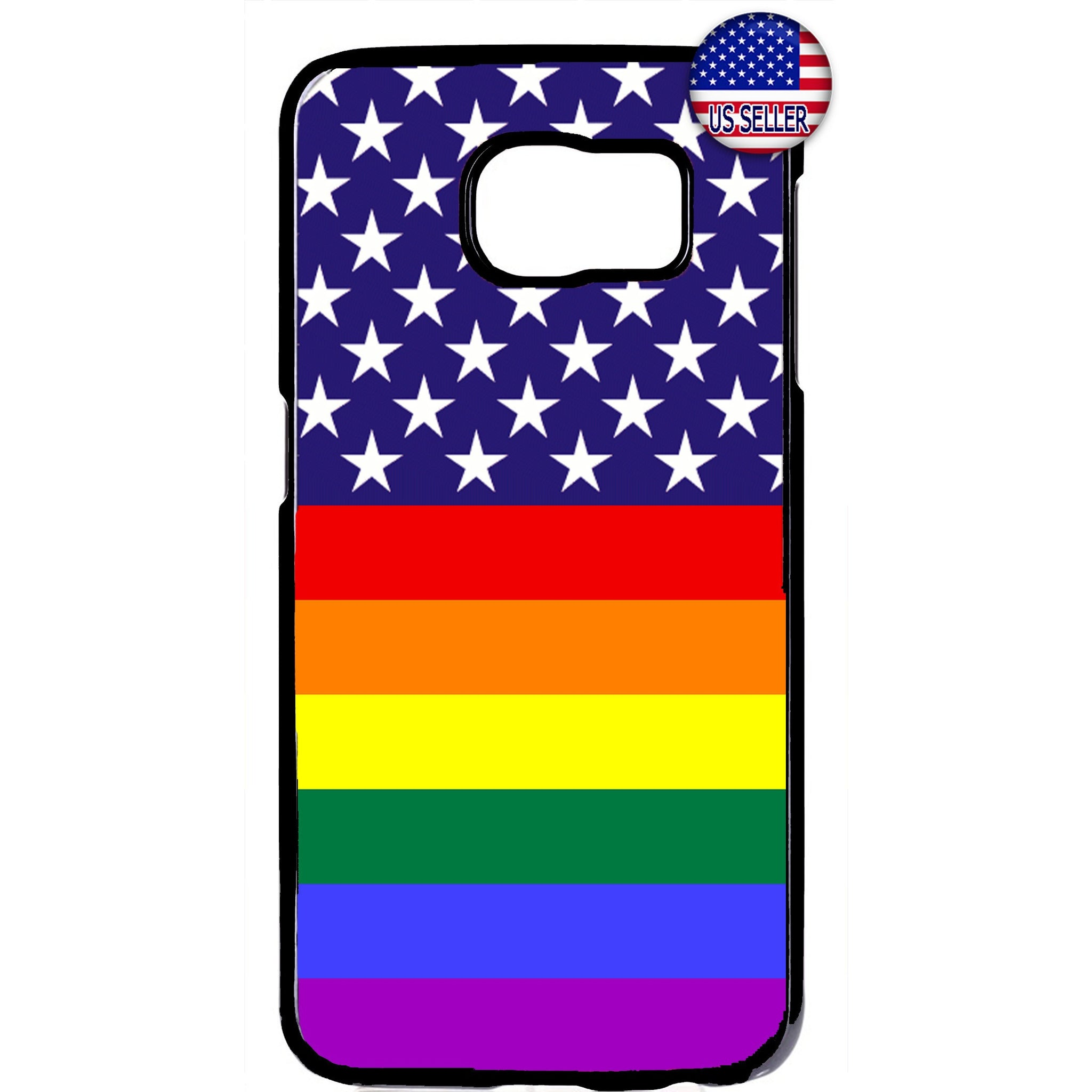 Rainbow Flag USA LGBT Homosexual Rubber Case Cover For Samsung Galaxy
