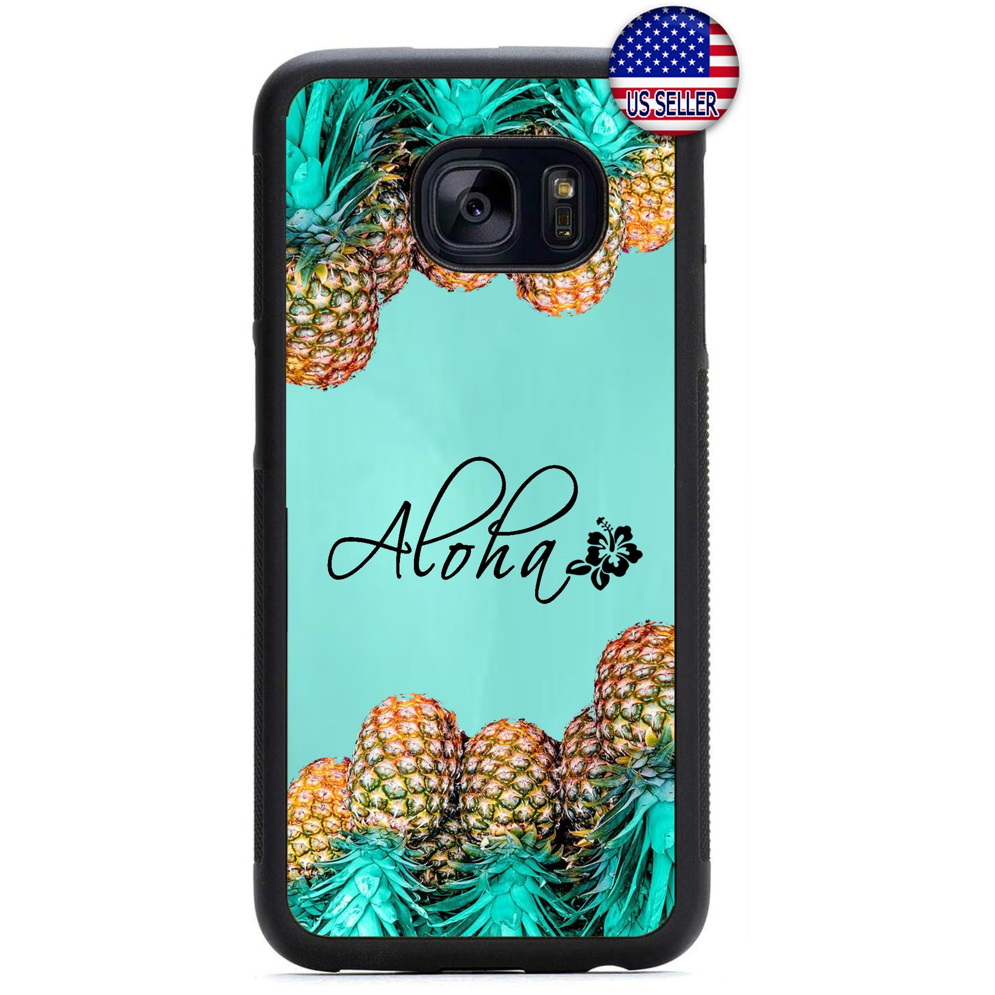 Pineapple Aloha Hawaii Rubber Case Cover For Samsung Galaxy