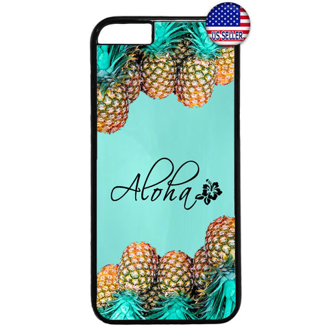 Pineapple Aloha Hawaii Rubber Case Cover For Iphone