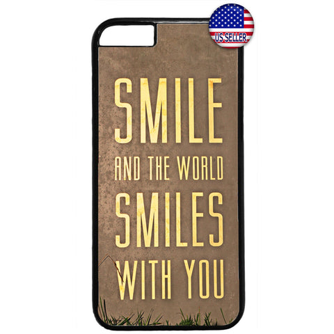 World Smiles With You Rubber Case Cover For Iphone