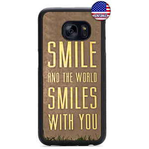 World Smiles With You Rubber Case Cover For Samsung Galaxy