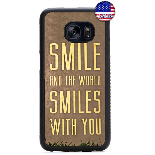 World Smiles With You Rubber Case Cover For Samsung Galaxy Note