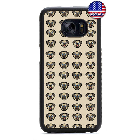 Pug Puppy Dog Emoji Rubber Case Cover For Samsung Galaxy