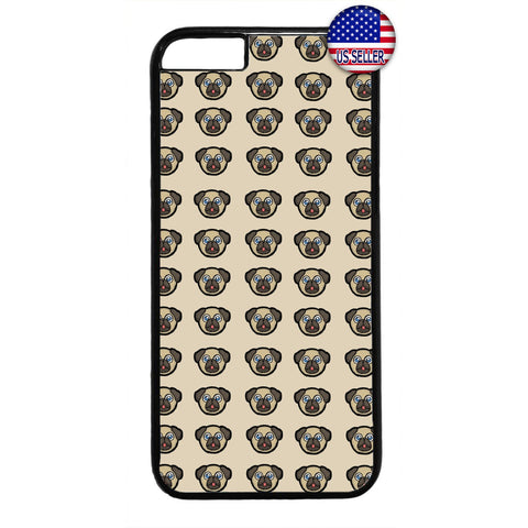 Pug Puppy Dog Emoji Rubber Case Cover For Iphone