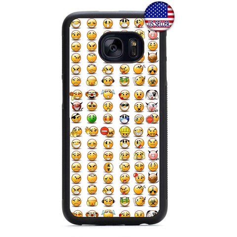 Funny Emoji Emoticons Rubber Case Cover For Samsung Galaxy