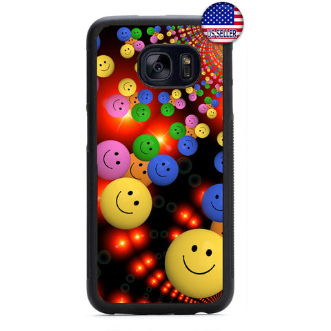 Funny Emoji's Smileys Rubber Case Cover For Samsung Galaxy