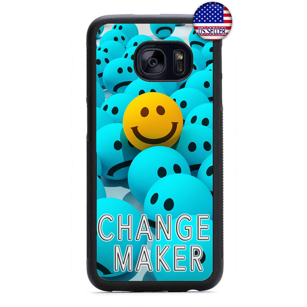 Change Maker Smiley Rubber Case Cover For Samsung Galaxy