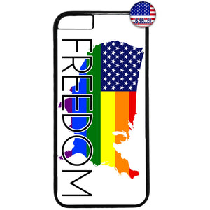 Freedom Gay Rainbow Flag Homosexual Rubber Case Cover For Iphone