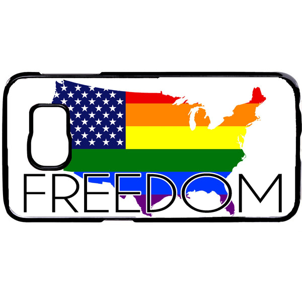 Freedom Gay Rainbow Flag Homosexual Rubber Case Cover For Samsung Galaxy