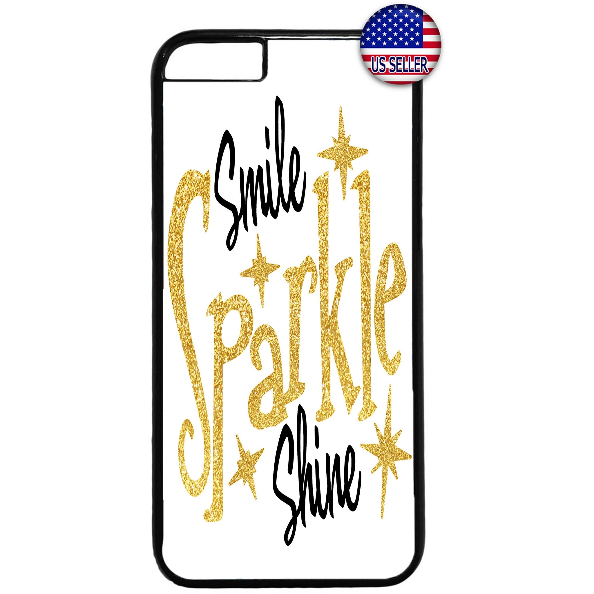 Smile Sparkle Shine Rubber Case Cover For Iphone