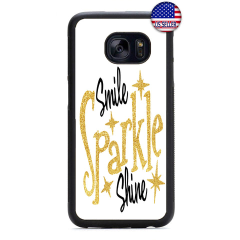 Smile Sparkle Shine Rubber Case Cover For Samsung Galaxy