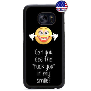 Can You See The F**k You Rubber Case Cover For Samsung Galaxy