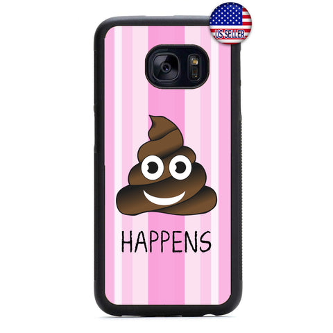 Emoji S**t Happens Rubber Case Cover For Samsung Galaxy